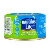 Nautilus lite tuna chunk in soyabean o